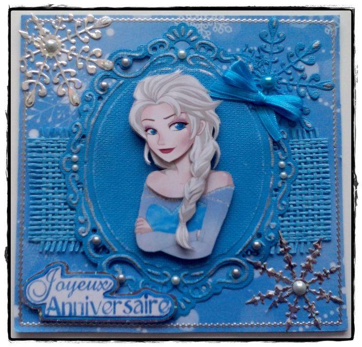 La Reine Des Neiges En 3 D Carte Anniversaire Enfant Carte Anniversaire Scrapbooking Cartes Reine Des Neiges