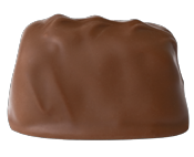 Peanut Nougat - Chewy brown sugar nougat with roasted and salted peanuts enrobed in smooth milk chocolate.