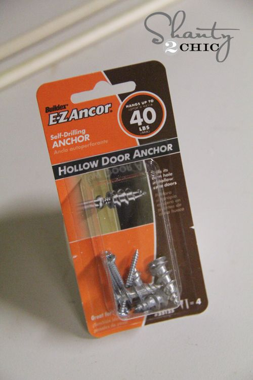 Hollow Core Door Anchors to attach/hang something from the inside of our hollow core doors. & Spice Rack - Free Plans   Pinterest   Hollow core doors Doors and ...
