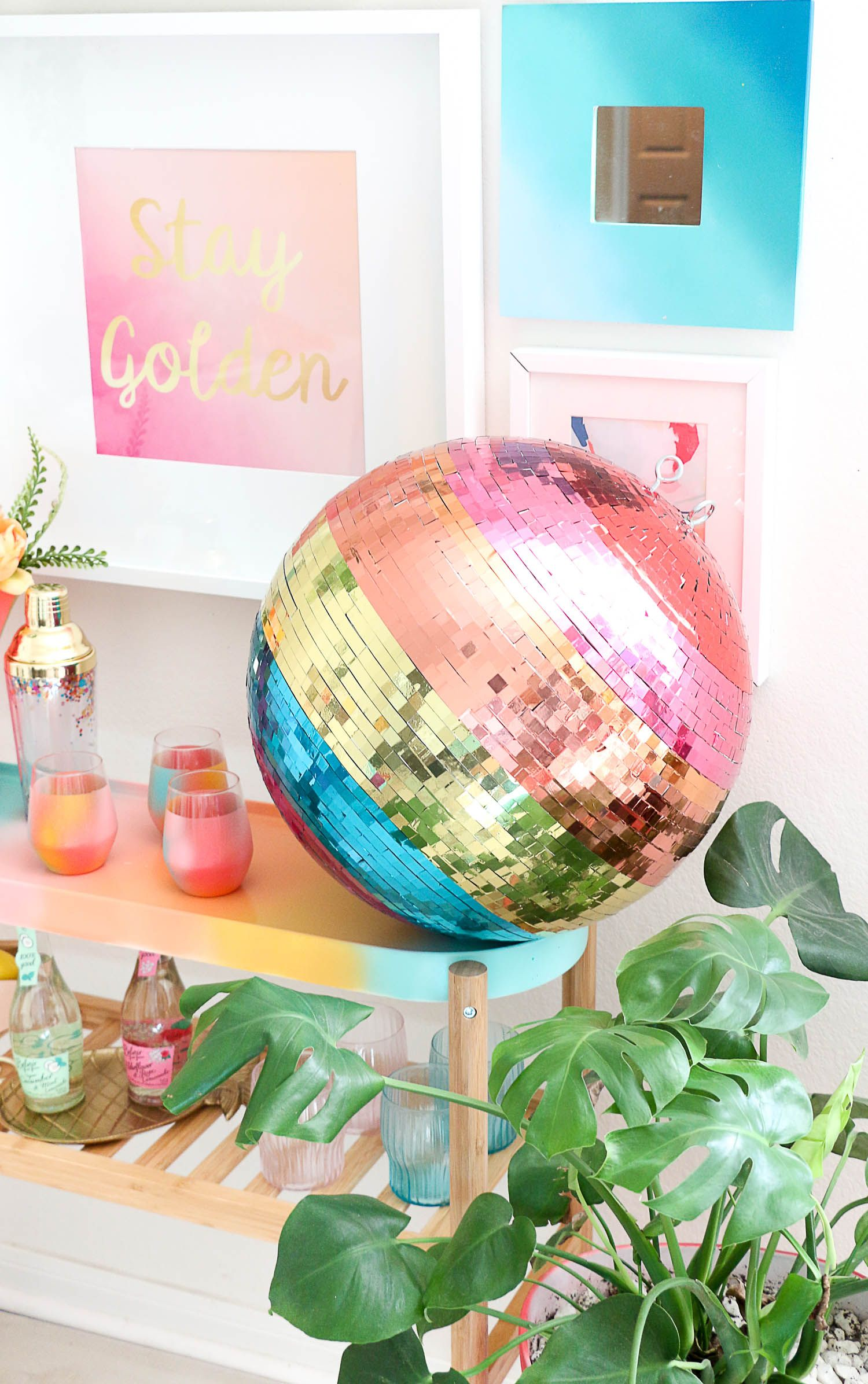 Diy hula hoop wedding decorations  Make your own rainbow disco ball  DIY Crafts Repurpose How To