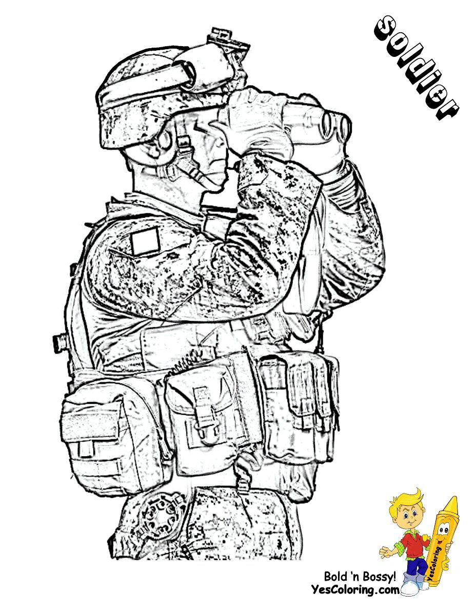 Army Guy Coloring Pages : coloring, pages, Fearless, Coloring, Pages