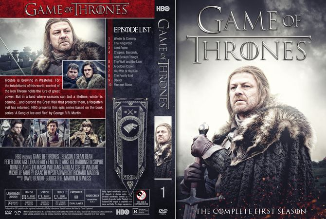 Game Of Thrones - Season 1 DVD Custom Cover