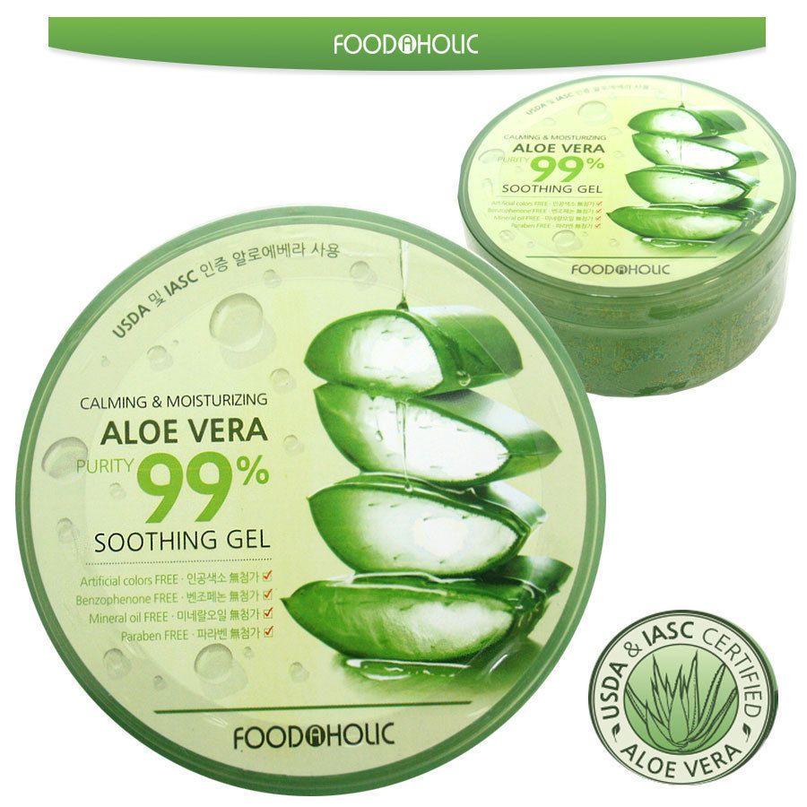 Aloe Vera Purity 99 Soothing Gel 300ml Calming Moisturizing Nature Republic Jar 300 Ml Korean Made Foodaholic