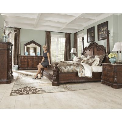 Ledelle Four Poster Bedroom Collection -   delanico/bedroom - Poster Bedroom Sets