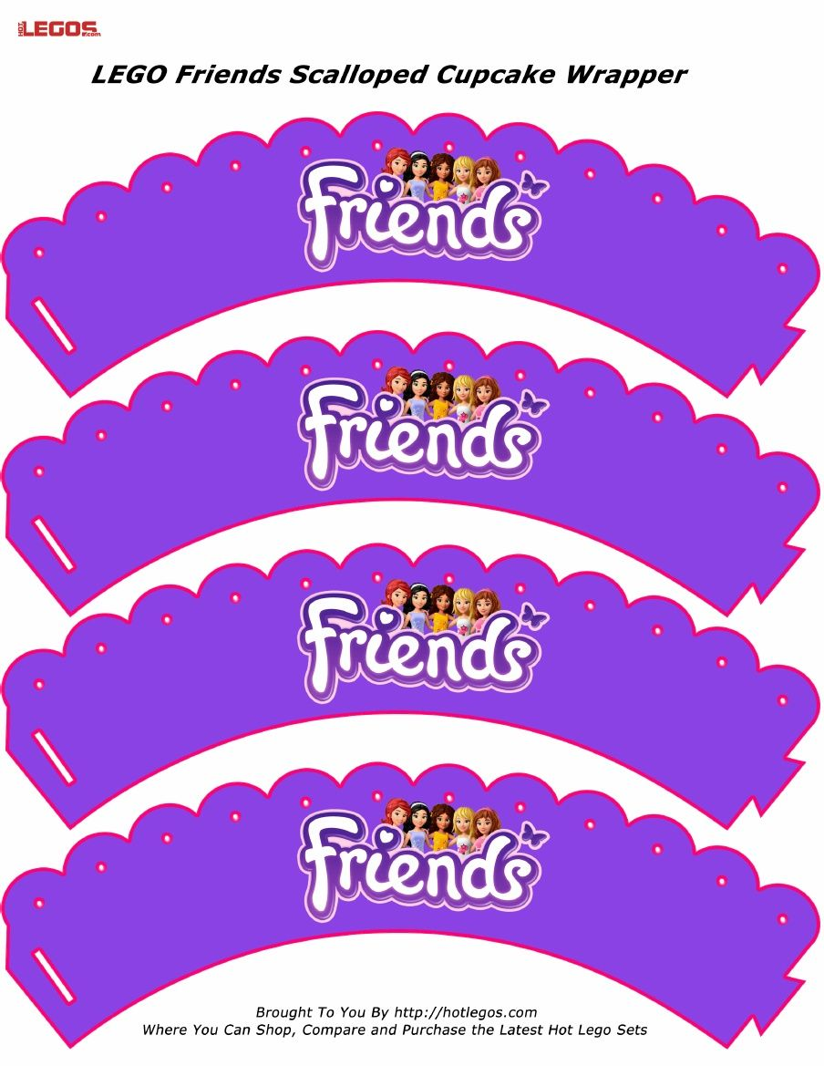 Lego Friends Scalloped Cupcake Wrapper Lego Printables