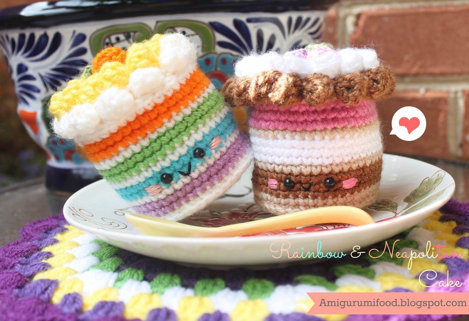 Rainbow cake and neapolitan cake free pattern crochet food rainbow cake and neapolitan cake free pattern crochet food amigurumi food free pattern crochetfood bankloansurffo Choice Image
