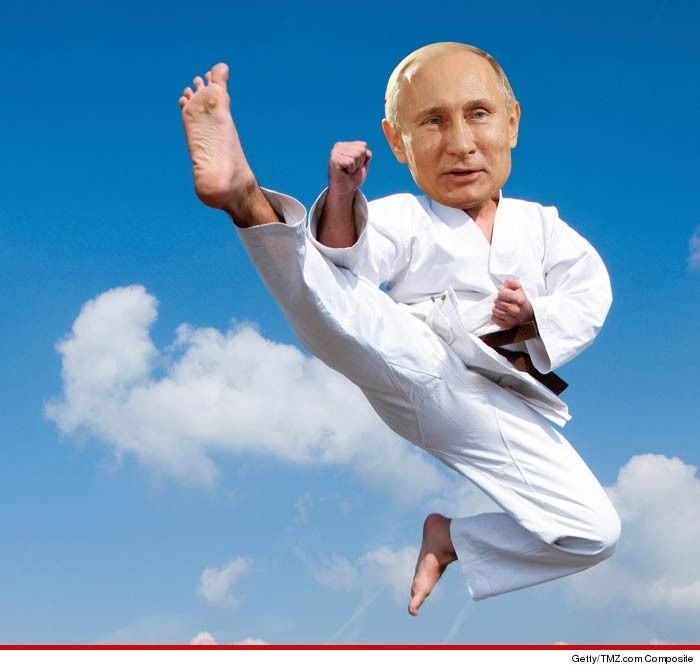 Vladimir Putin got an degree black belt.