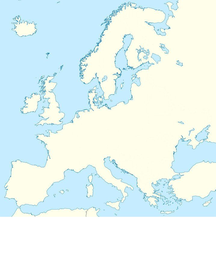 Blank Map Of Europe With Borders.Can You Draw The Country Borders On This Blank Map Of Europe Ch A
