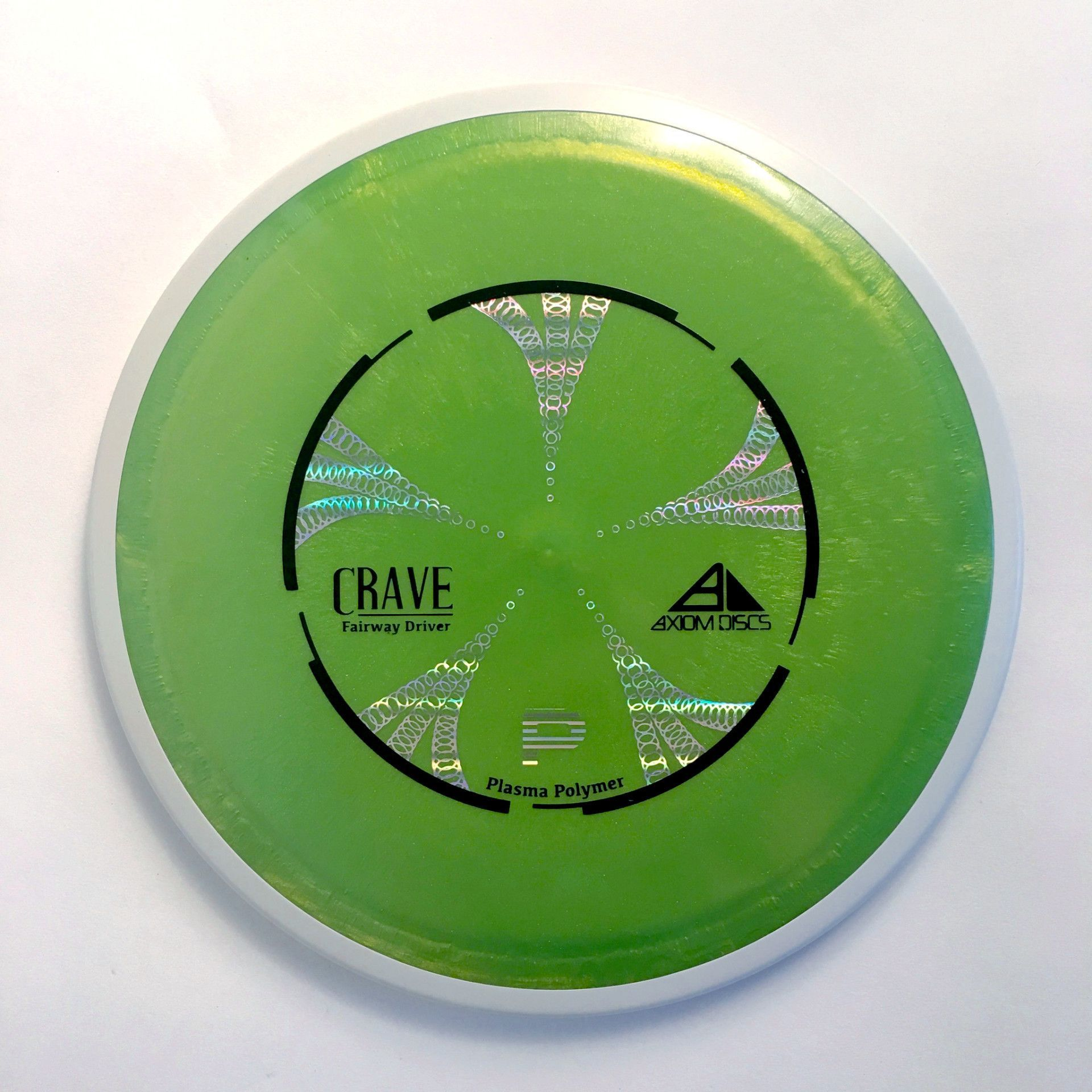Axiom Plasma Crave (Lime Green Core/White Rim)