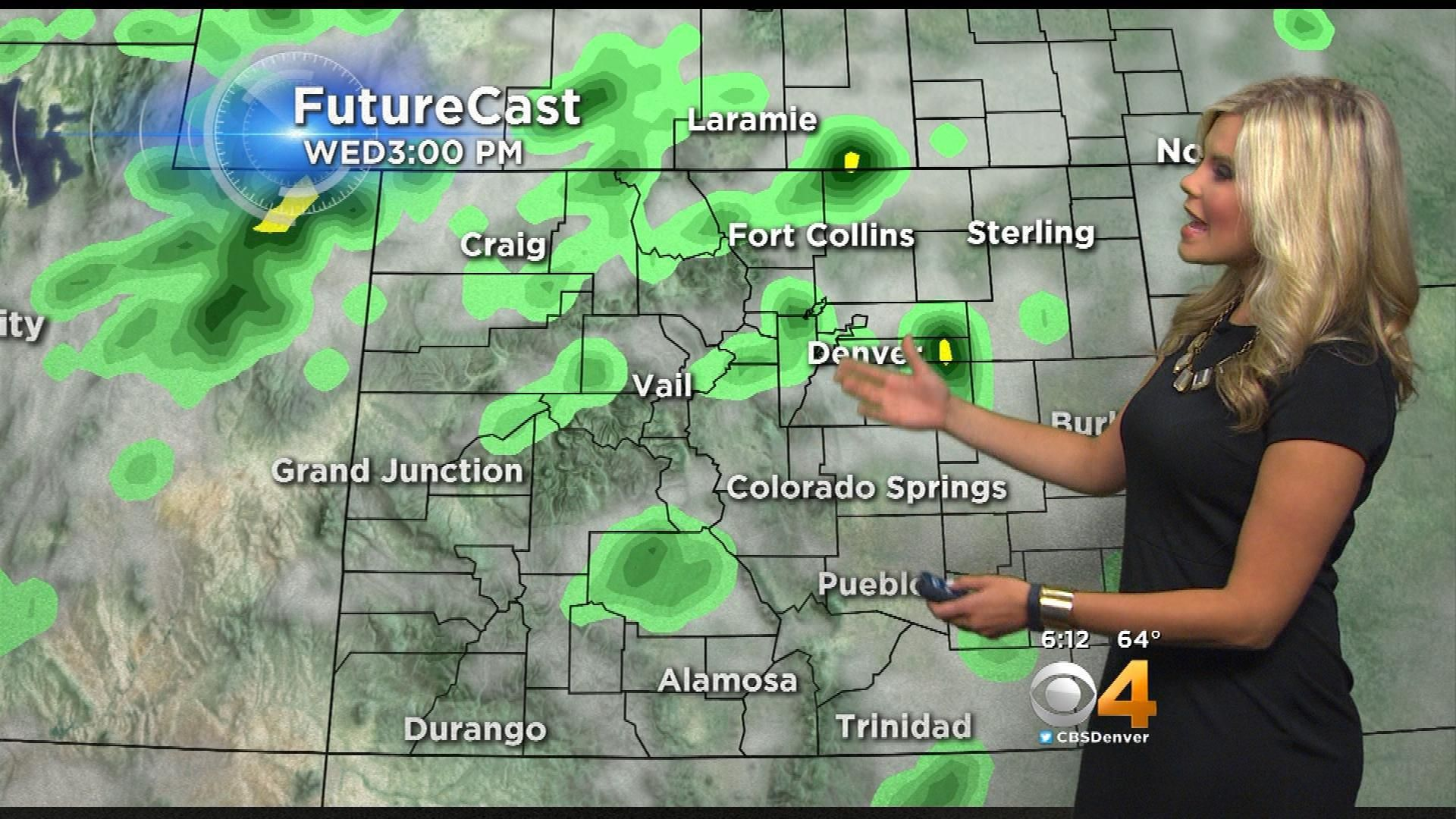 Latest Forecast More Wet Weather Cooler Temps Cbs Denver Denver Weather Wet Weather Weather