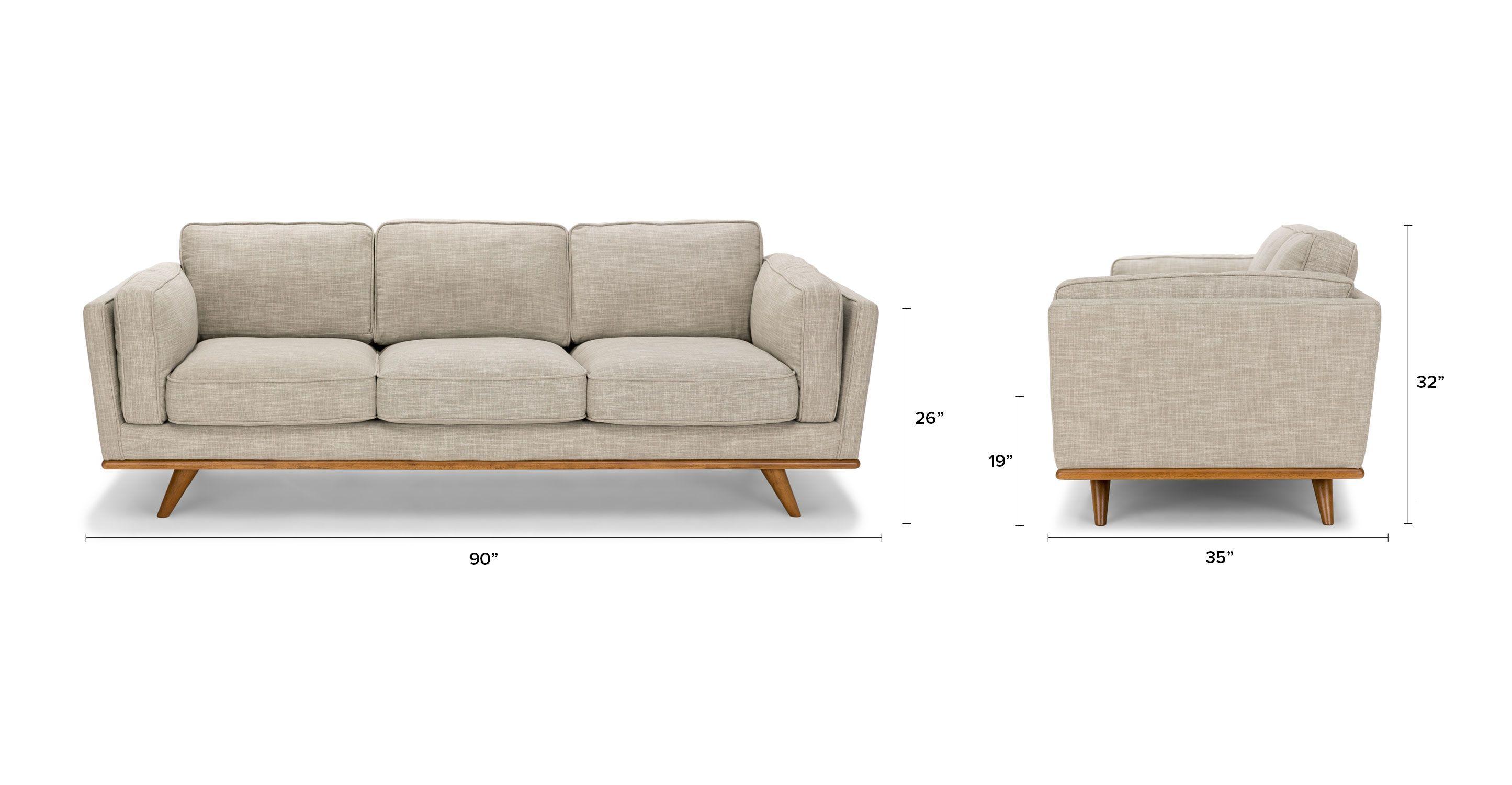 Timber Rain Cloud Gray Sofa