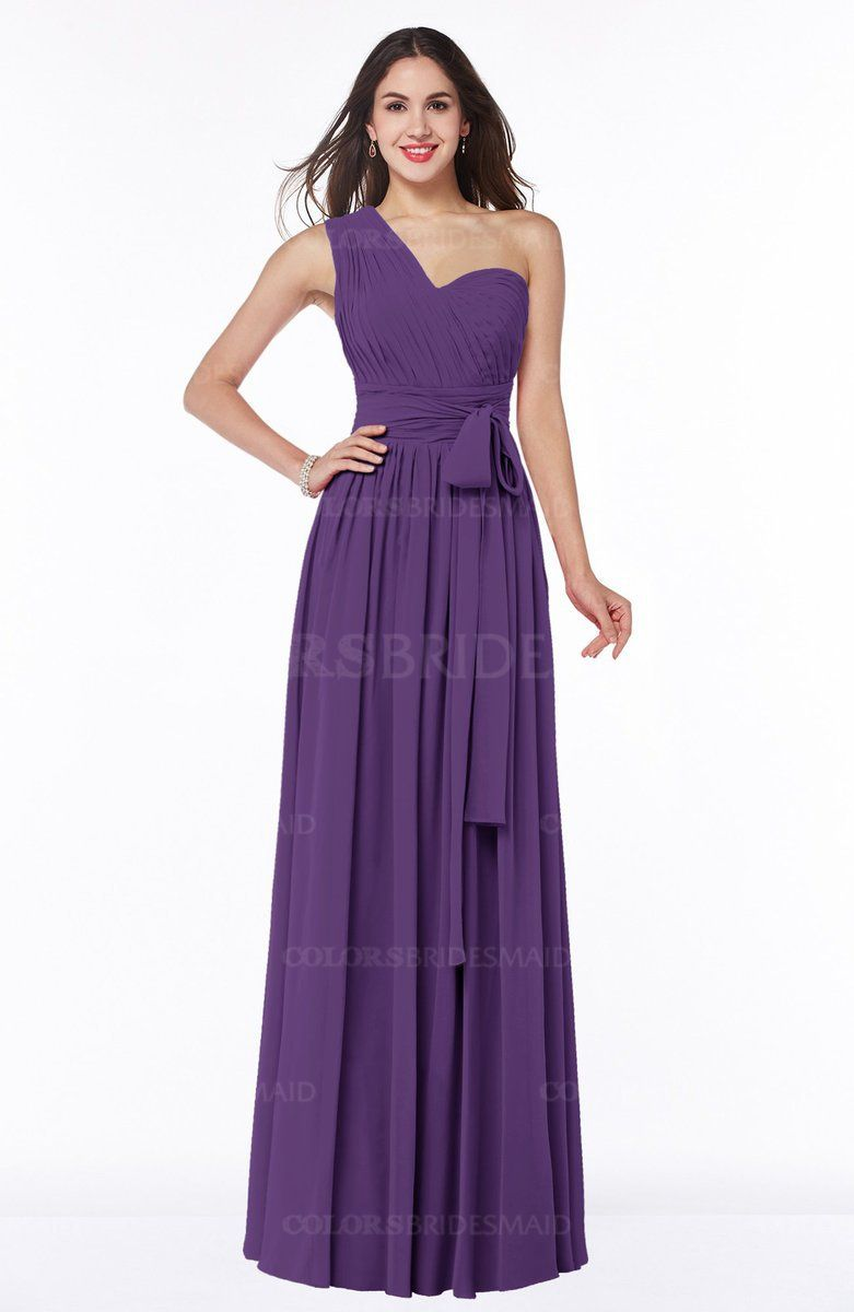 Dark purple modern a line half backless chiffon floor length dark purple modern a line half backless chiffon floor length ruching plus size bridesmaid dresses ombrellifo Images
