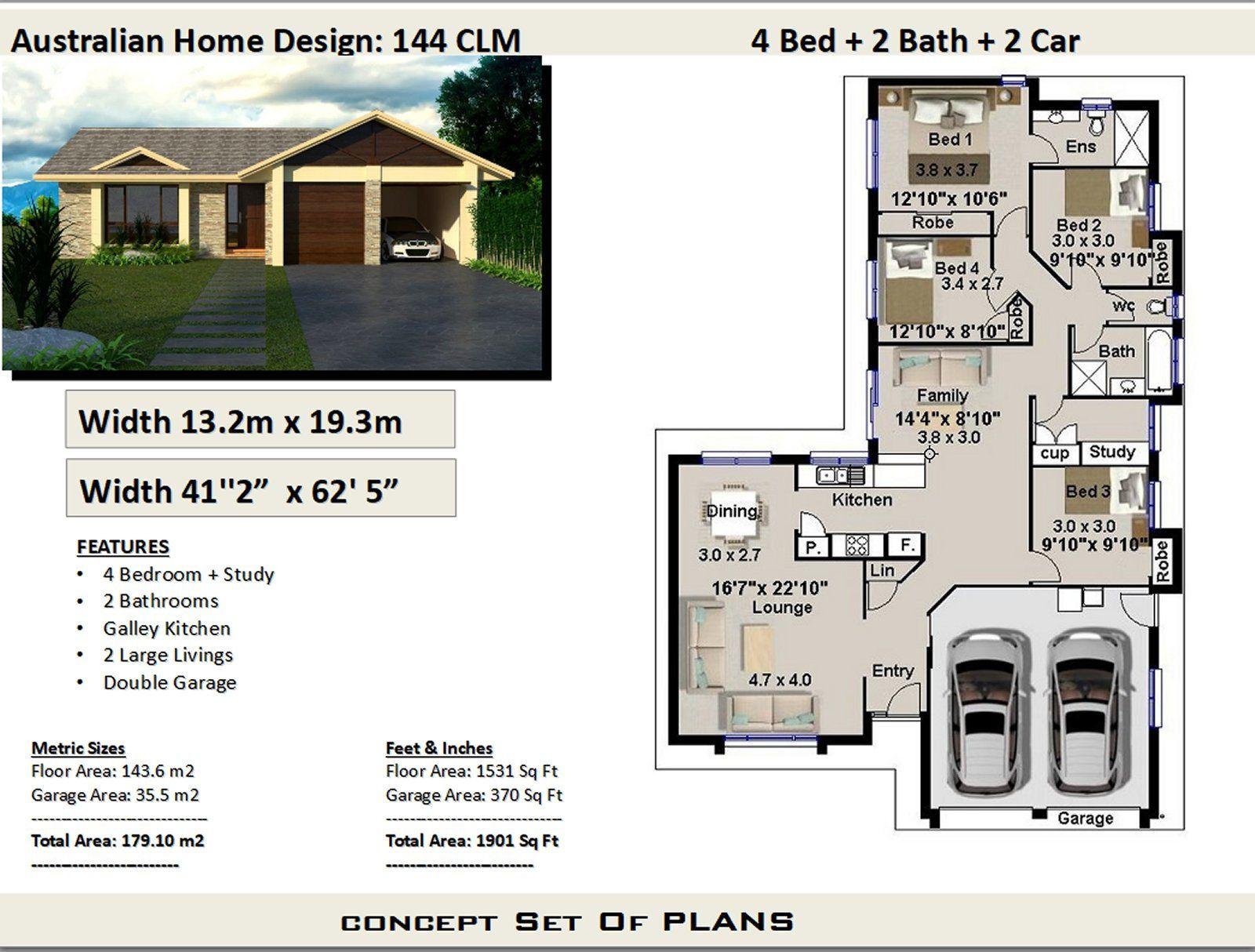 Narrow Lot 4 Bedroom House Plans Narrow Home Plans 4 Etsy Narrow Lot House Plans Bedroom House Plans House Plans Australia