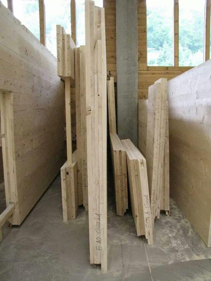 Massivholzhaus Wand- und Deckenelemente   Ein NUR HOLZ ...