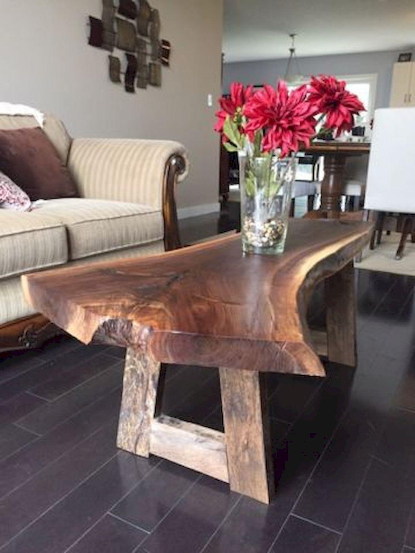 Diy Wood Slab Coffe Table Ideas 7 Wood Table Design Coffee