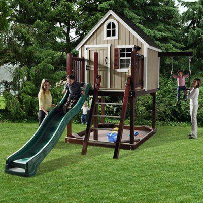 Suncast HomePlace Treehouse Loft Playset   Unique Swingset ...