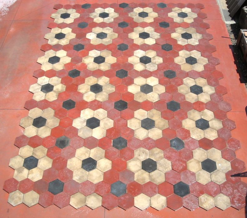 Pannello Di Mattonelle Pavimento Antico Sale Price Complementi D'arredo Arte E Antiquariato