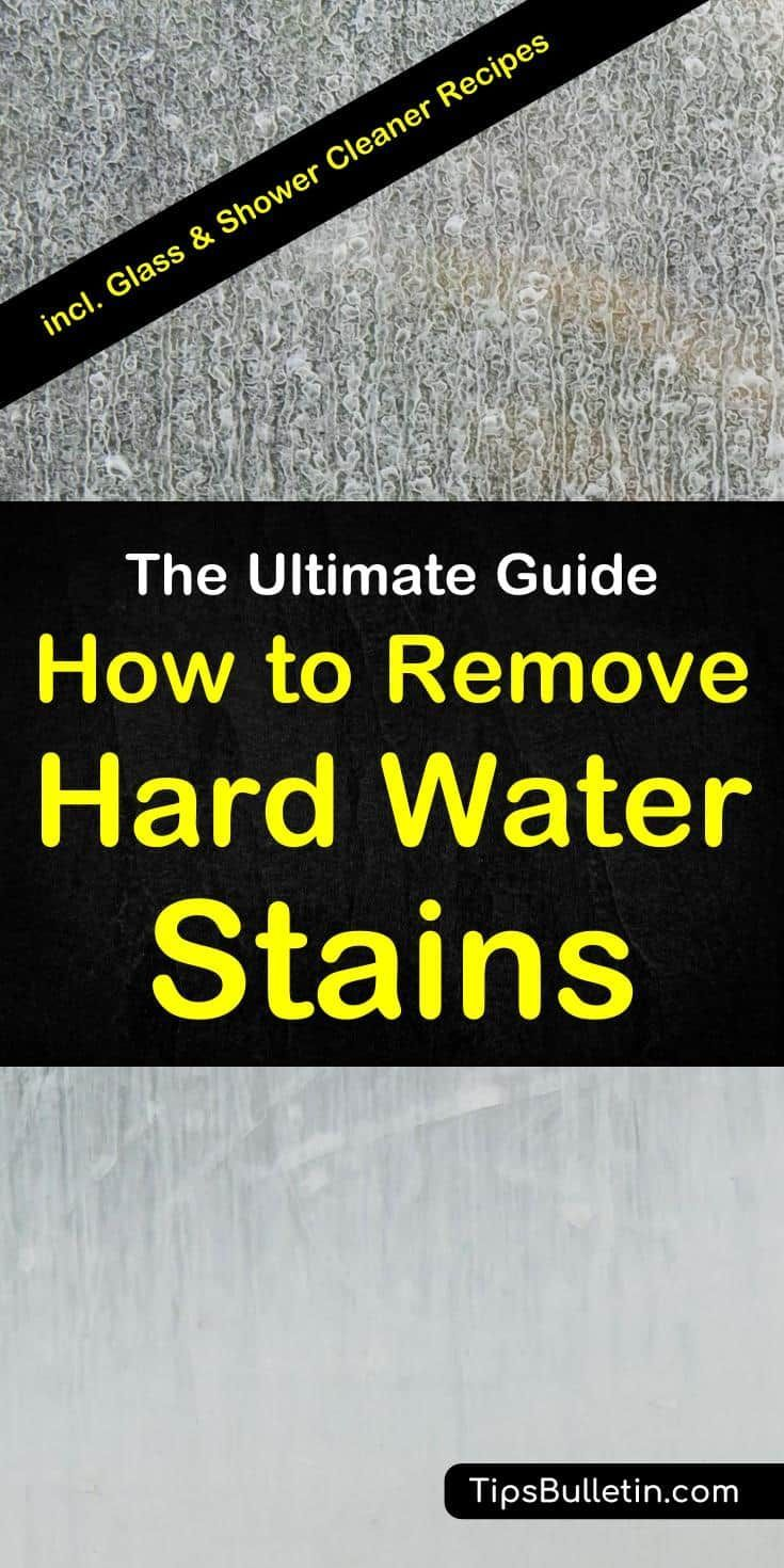 how to remove water spots from glass windows