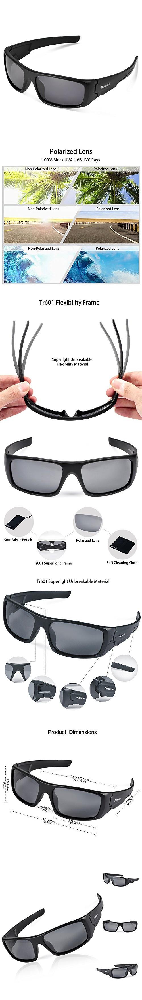 c84b986206 Duduma Tr601 Polarized Sports Sunglasses for Baseball Cycling Fishing Golf  Superlight Frame (black frame