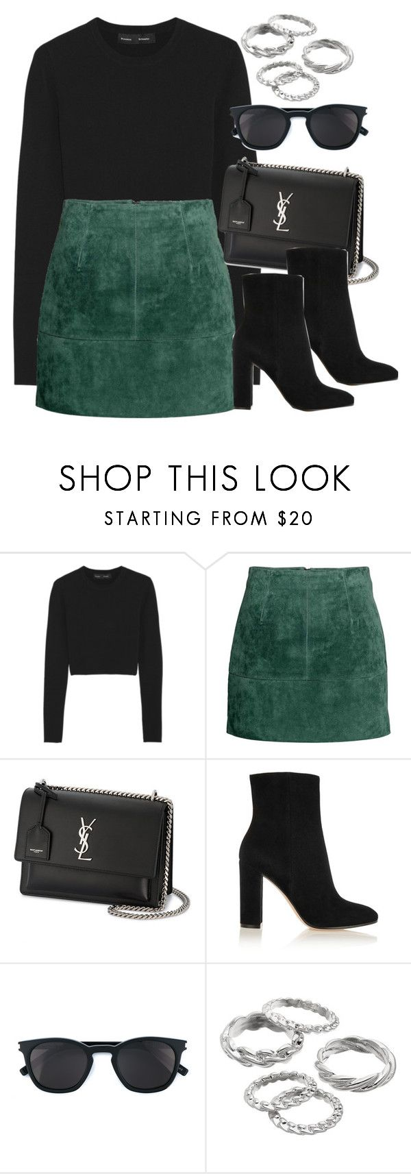 """""""#13927"""" by vany-alvarado ❤ liked on Polyvore featuring Proenza Schouler, Yves Saint Laurent, Gianvito Rossi and Apt. 9"""
