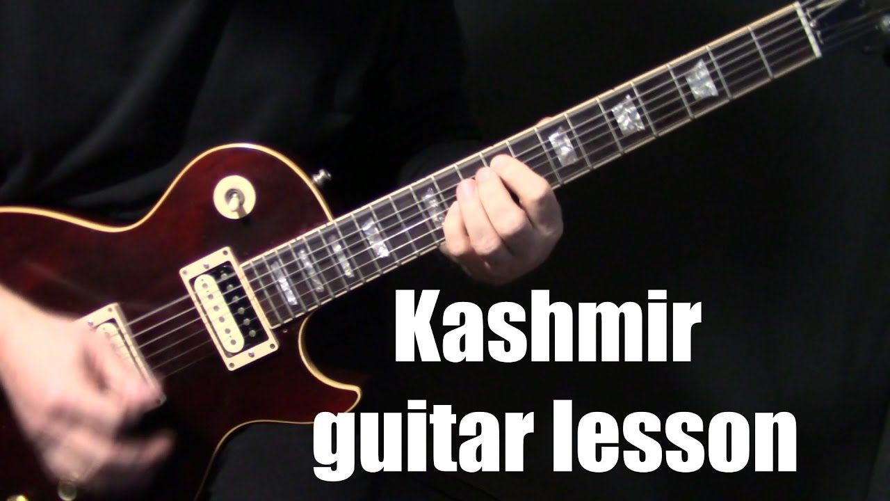 How To Play Kashmir On Guitar By Led Zeppelin Electric Guitar