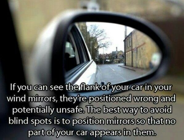 If you can see the flank of your car. ....