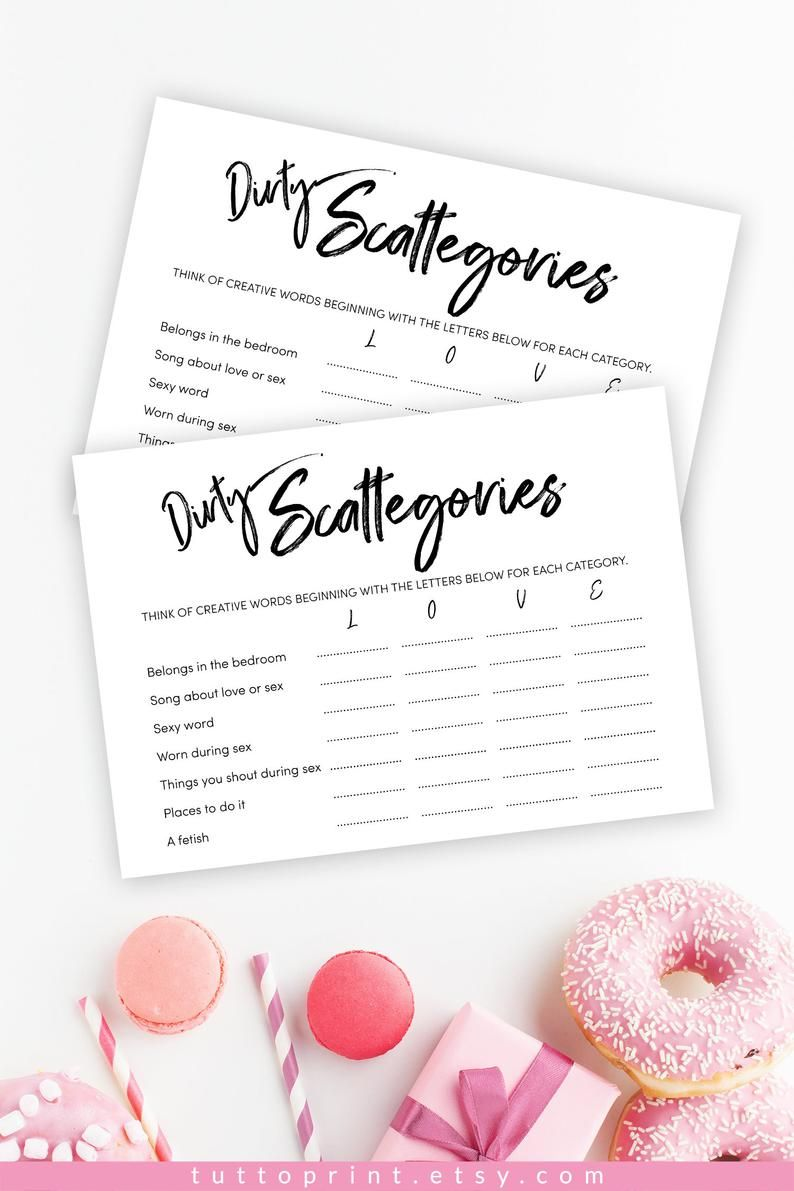 Who wants to play Dirty Scattegories? Four Different Games to play-Bridal Shower Scattergories Cards 4 Rounds Bachelorette Party Games
