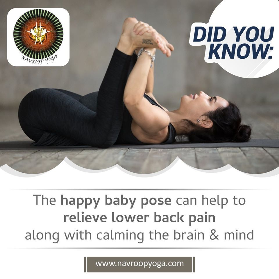 Did You Know Happy Baby Pose to Stay Calm & Stress-Free  For Free Demo Session 📞 +91 93208 32999 . ....