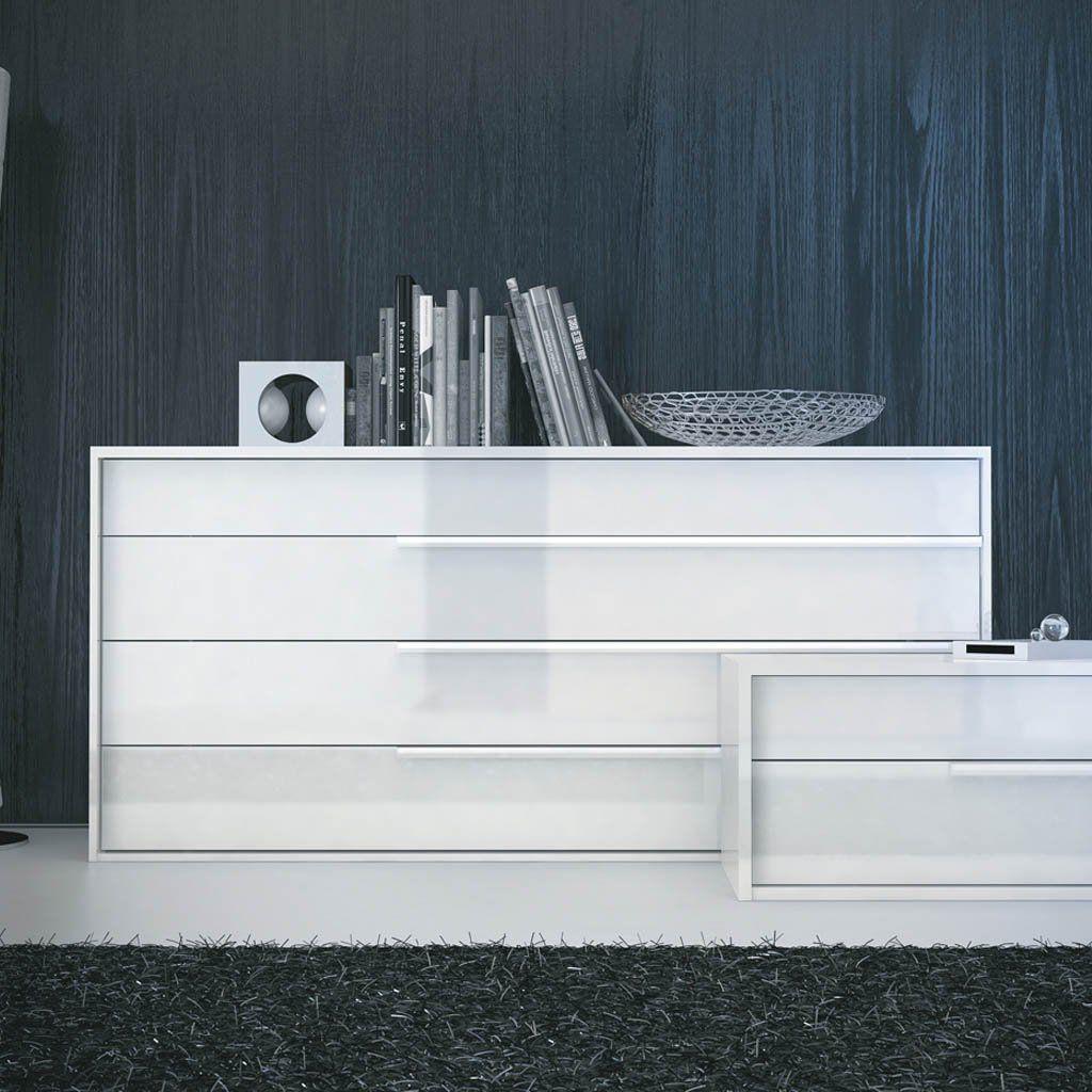 Contemporary White Lacquer Bedroom Furniture