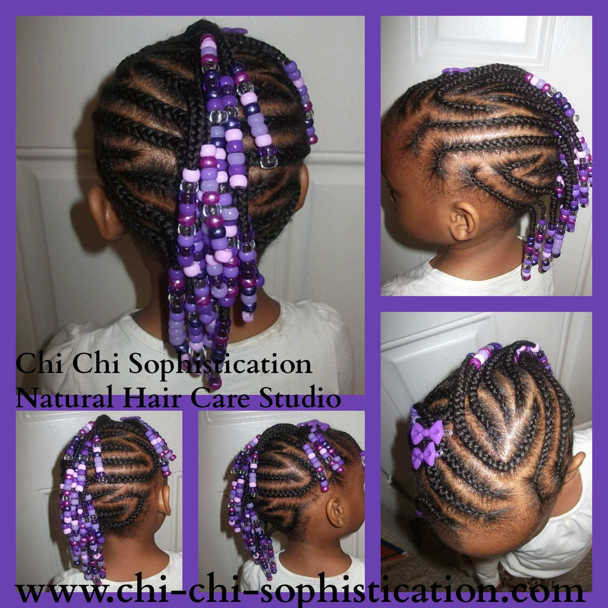 Cornrows Styled Into A Mohawk With Beads Little Girl Braids Hair Styles Braids For Kids