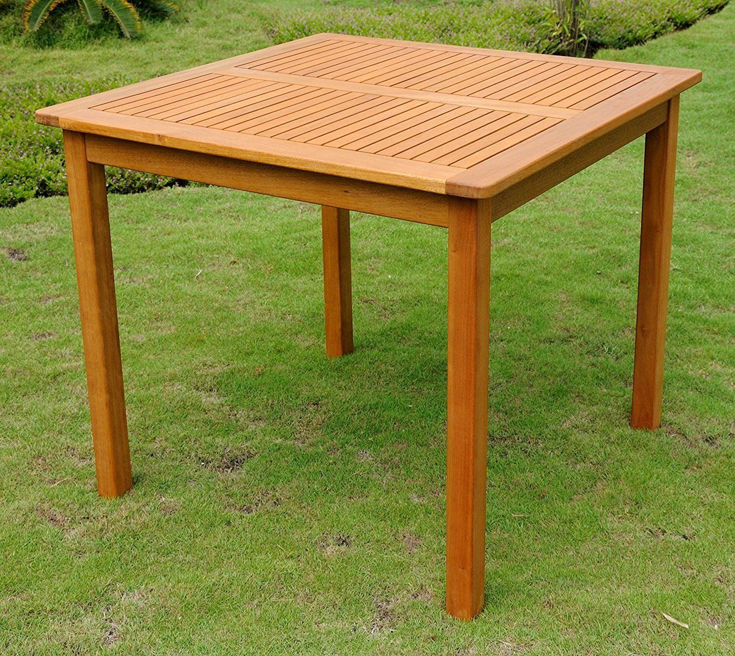 Square 32 Inch Outdoor Wood Patio Dining Table Wood Patio Patio Dining Table Patio Dining