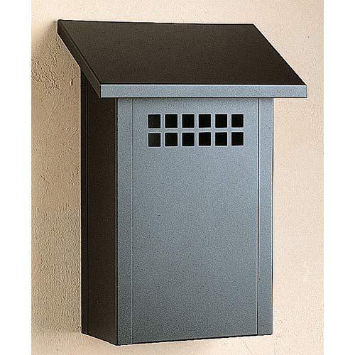 Glasgow Satin Black Mail Box Vertical Arroyo Craftsman Wall Mounted Mailbo Outdoor