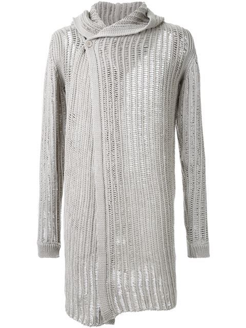 Shop Rick Owens hooded cardigan in Le Gray from the world's best independent boutiques at farfetch.com. Shop 400 boutiques at one address.