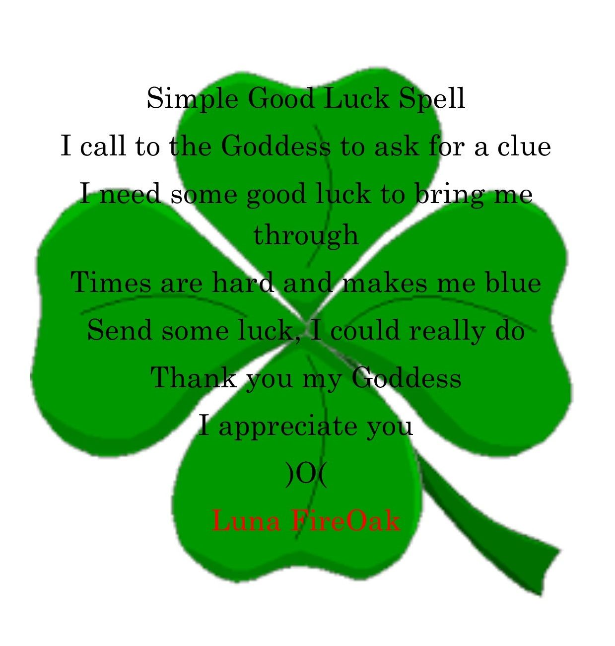Simple good luck spell witchcraft pinterest luck spells simple good luck spell biocorpaavc Choice Image