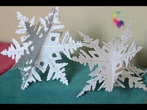 Fiocchi Di Neve Di Carta Fai Da Te : Immagini di come fare fiocchi di neve d