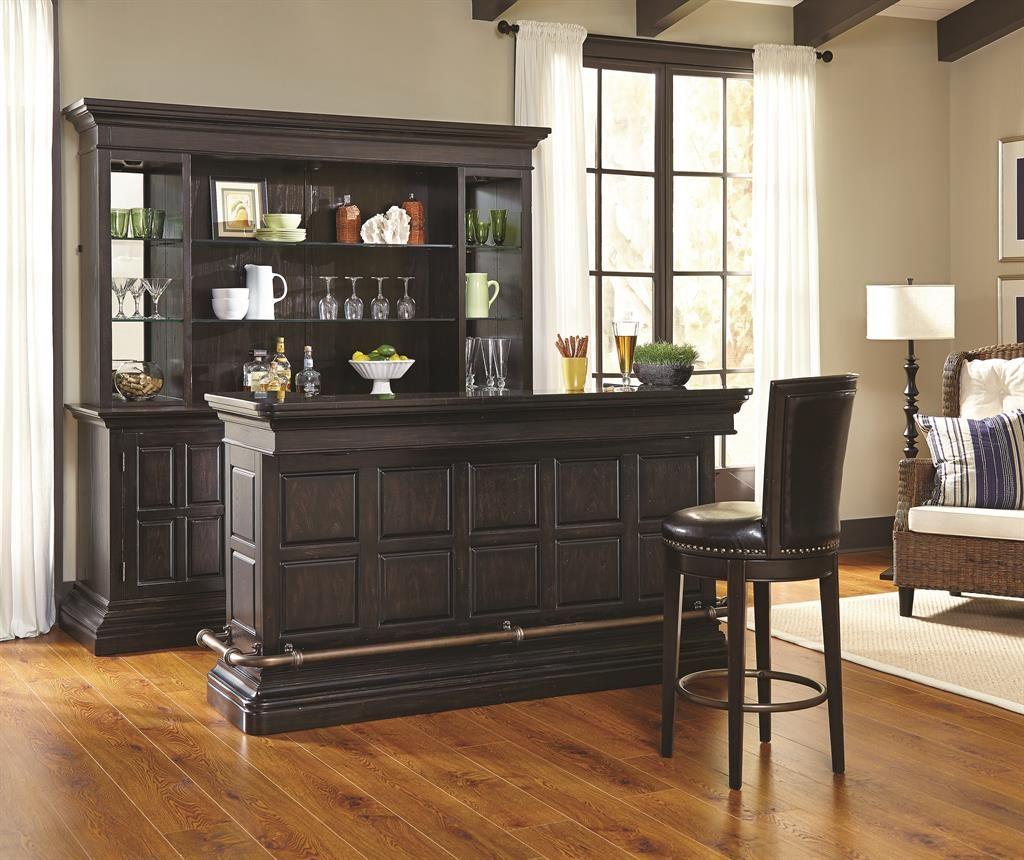 Burton Bar Base Accents Bars Barstools Pulaski Furniture Home Meridian Bares Modernos