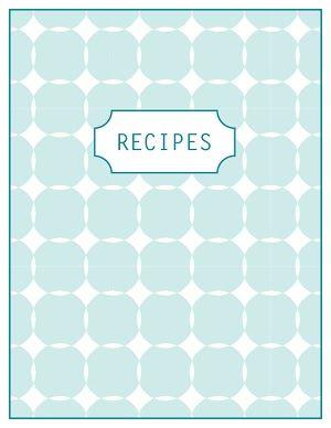 Printable Recipe Pages Freebie Printable Recipe Page Recipe