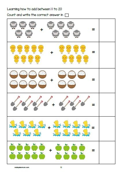 Farm Printable Pack Free Activity Sheet For Pre K K1 K2 Read More Malaysian Farm Activities Preschool Math Activities Preschool Activity Sheets For Kids
