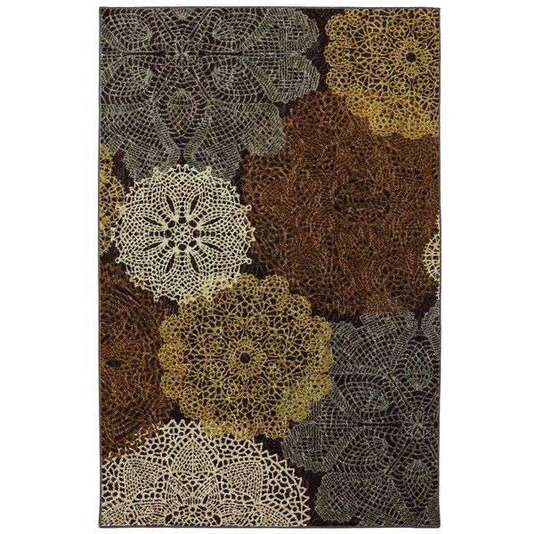 Brown Spiro Area Rug, 8x10 ($200) ❤ liked on Polyvore featuring home, rugs, brown area rugs, brown rug, outdoor area rugs, outdoor rug pad and outdoor rugs