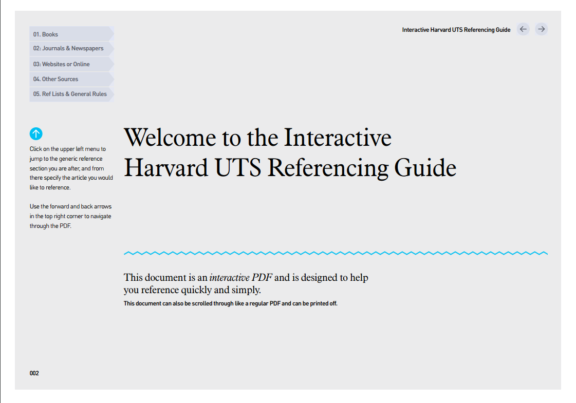 Ut Interactive Harvard Referencing Guide Stem Students How To Cite Book In Text