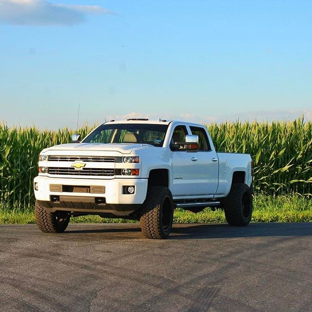 Durrrrtymax, white lifted 2015 chevy Silverado 2500hd