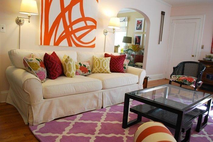 Wohnzimmer Ideen Mit Rosa Ein Verblüffendes Interieur