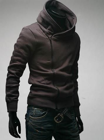 6e63ee8ff465 Mens Fashion Slim Fit Sexy Top Designed Hoodies Jackets Coats Coffee Size US  XL