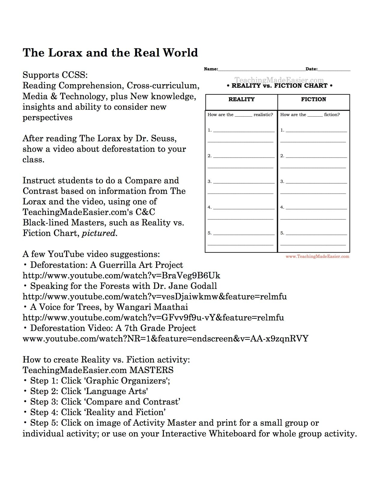 Worksheets The Lorax Worksheet Answer Key Waytoohuman Free Worksheets For Kids Amp Printables