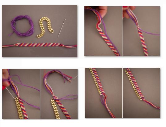 Ideas-para-decorar-pulseras-tejidas-4 | Pulseras | Pinterest ...