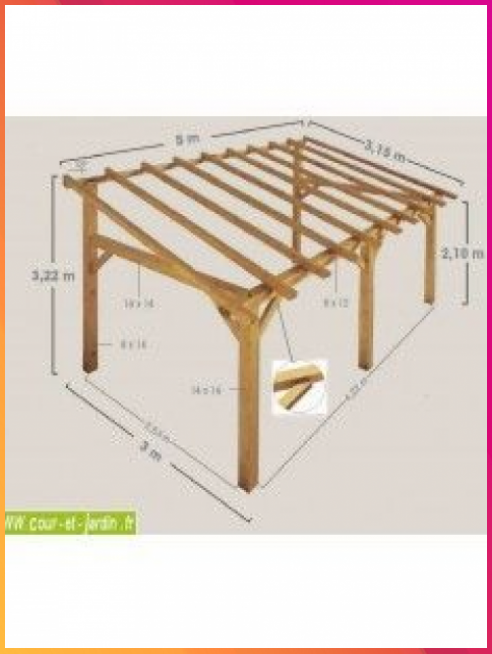 Charpente En Kit Cet Auvent Bois Sherwood 5mx3 Est Un Carport Bois Adosse Ou A 5mx3 Adosse Auvent Bois In 2020 Backyard Patio Designs Backyard Patio Backyard