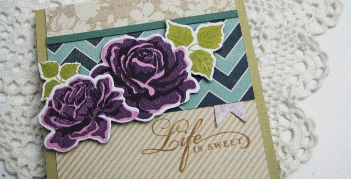 Roses stamped & diecut