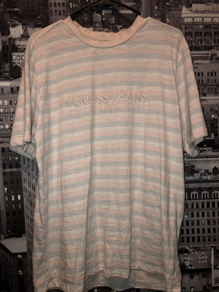 29975c39 Guess x ASAP Rocky Ice Cream Cotton Candy Pink Logo T Shirt Size M #fashion  #clothing #shoes #accessories #mensclothing #shirts (ebay link)