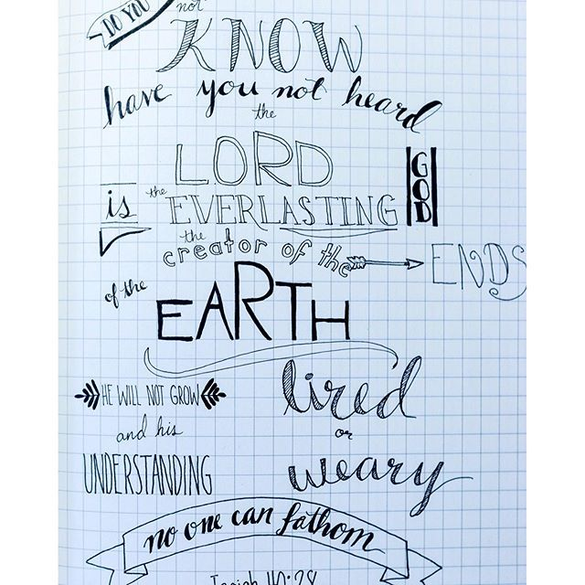 Practising my hand lettering with this bible verse for Hand lettering bible journaling