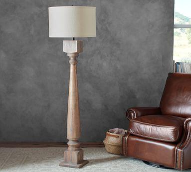 Finn Turned Wood Table Lamp Base Pottery Barn